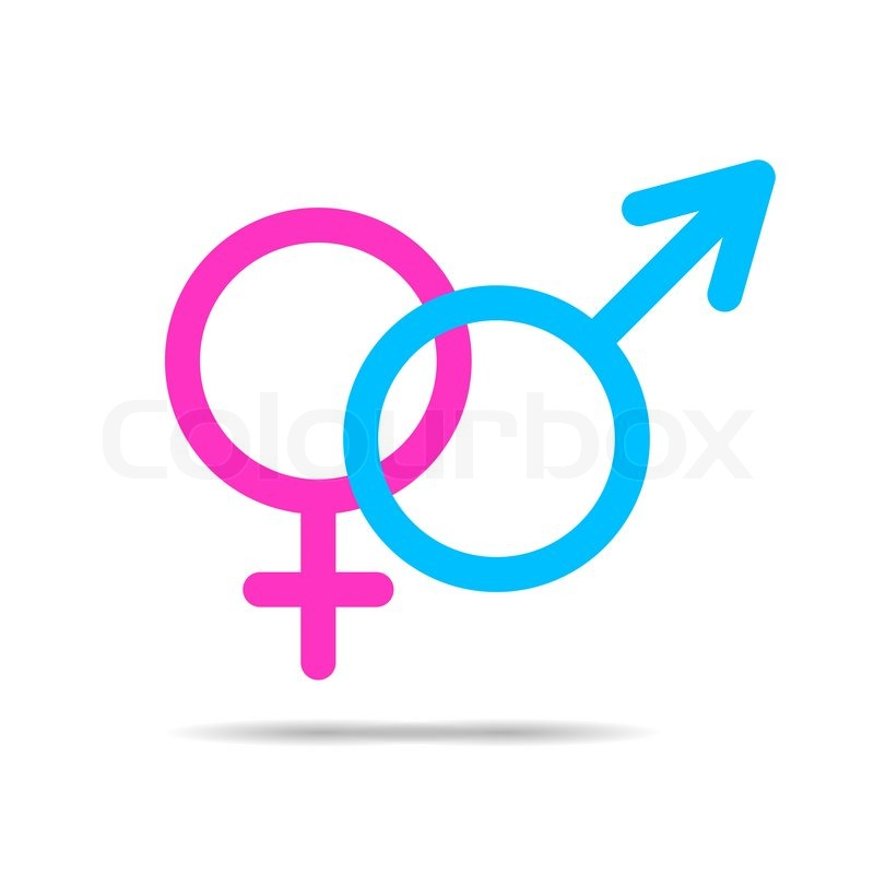 800x800 Vector Outlines Icons Of Gender Male And Female Symbols Stock