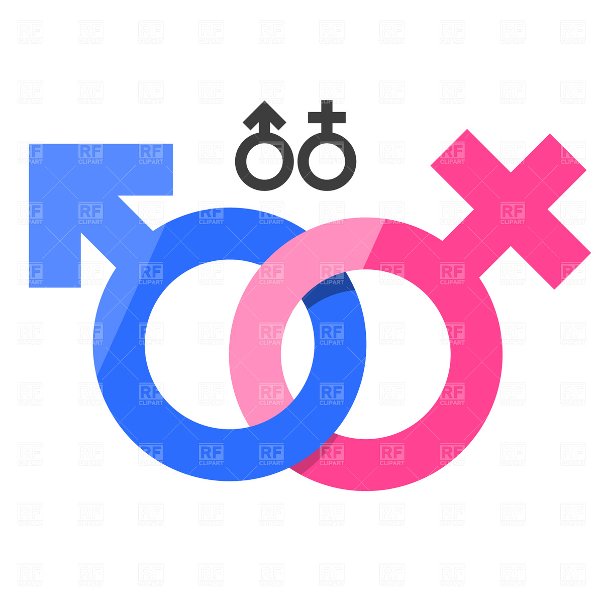 1200x1200 Male And Female Gender Signs Vector Image Vector Artwork Of