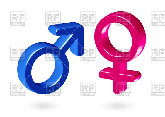 563x400 Male And Female Gender Symbols Vector Image Vector Artwork Of