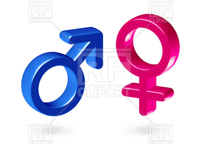 400x284 Male And Female Gender Symbols Vector Image Vector Artwork Of
