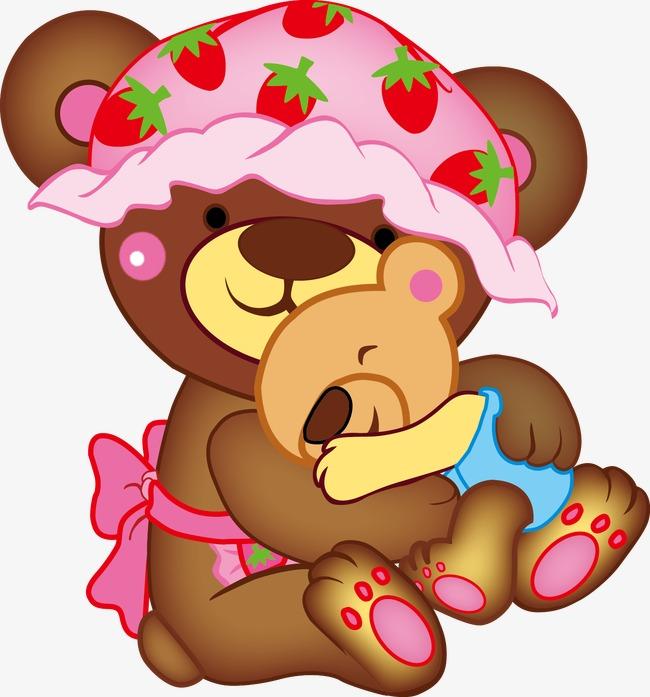 650x697 Cute Mama Bear And Baby Bear, Bear Vector, Baby Vector, Baby Bear