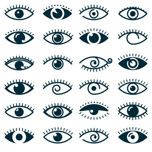626x626 Different Eyes Icon Collection Vector Free Download
