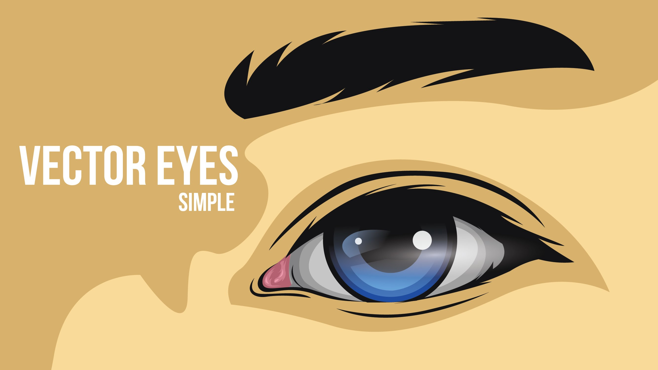 2667x1500 How To Create A Simple Eye Vector