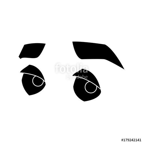 500x500 Man Eyes Cartoon Icon Vector Illustration Graphic Design Stock