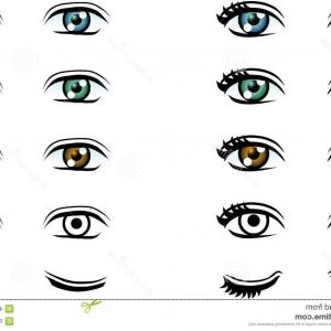 300x300 Stock Illustration Vector Man Woman Eyes Different Color