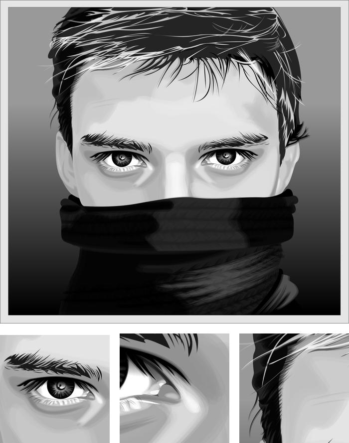 700x890 Coldman Vector Portrait (Vector Graphics,illustration,drawing
