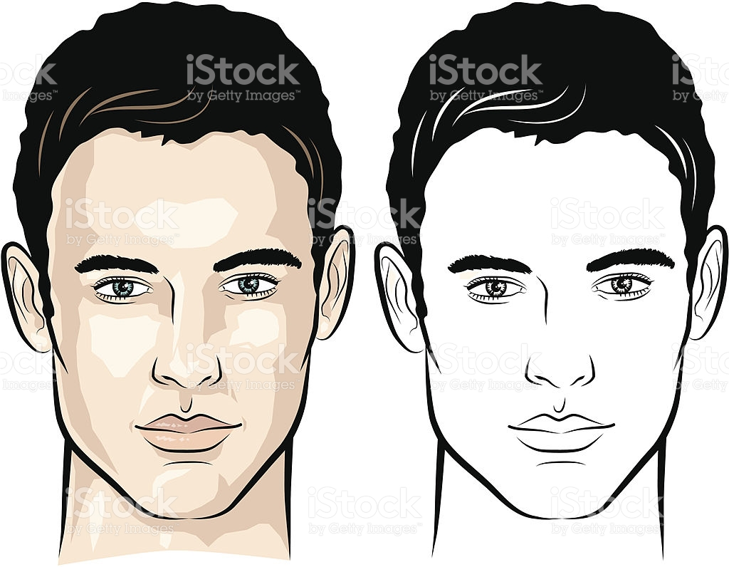 Man Face Vector