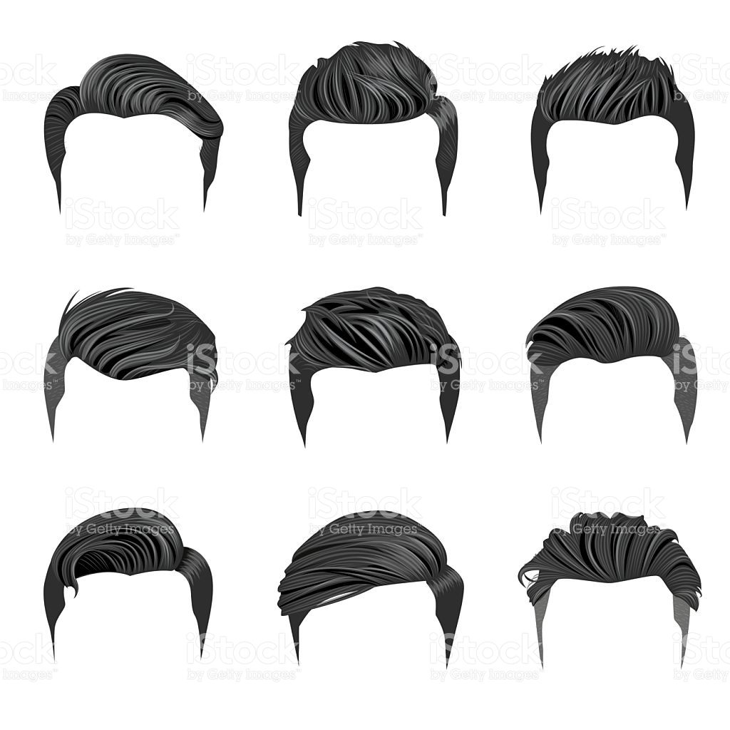 Man Hair Vector
