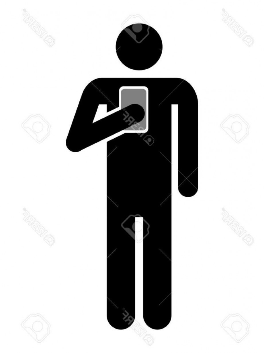 921x1228 Symbol Of Man Using Cellphone Icon Royalty Free Cliparts Vectors
