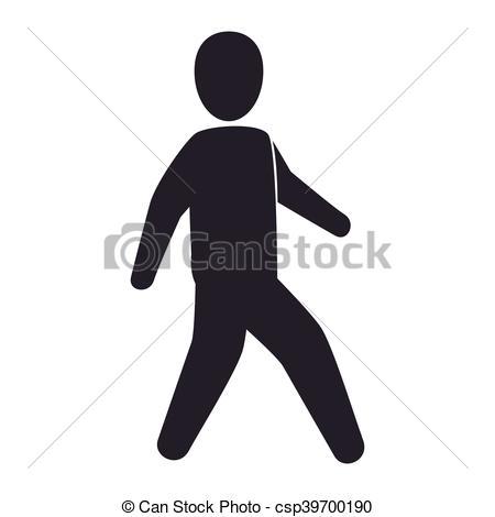 450x470 Human Man Walking. Man Walking Male Person Human Model Silhouette