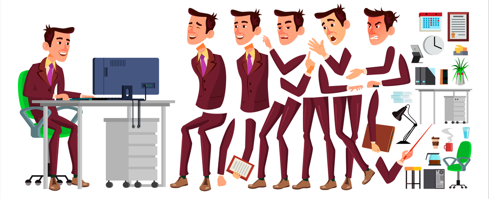 980x400 Page 1 Executive Manager On Curated Vector Illustrations, Stock