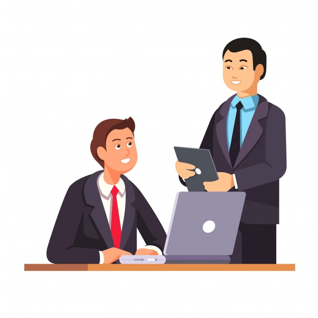626x626 Asian Hr Manager Welcomes New Employee Vector Free Download