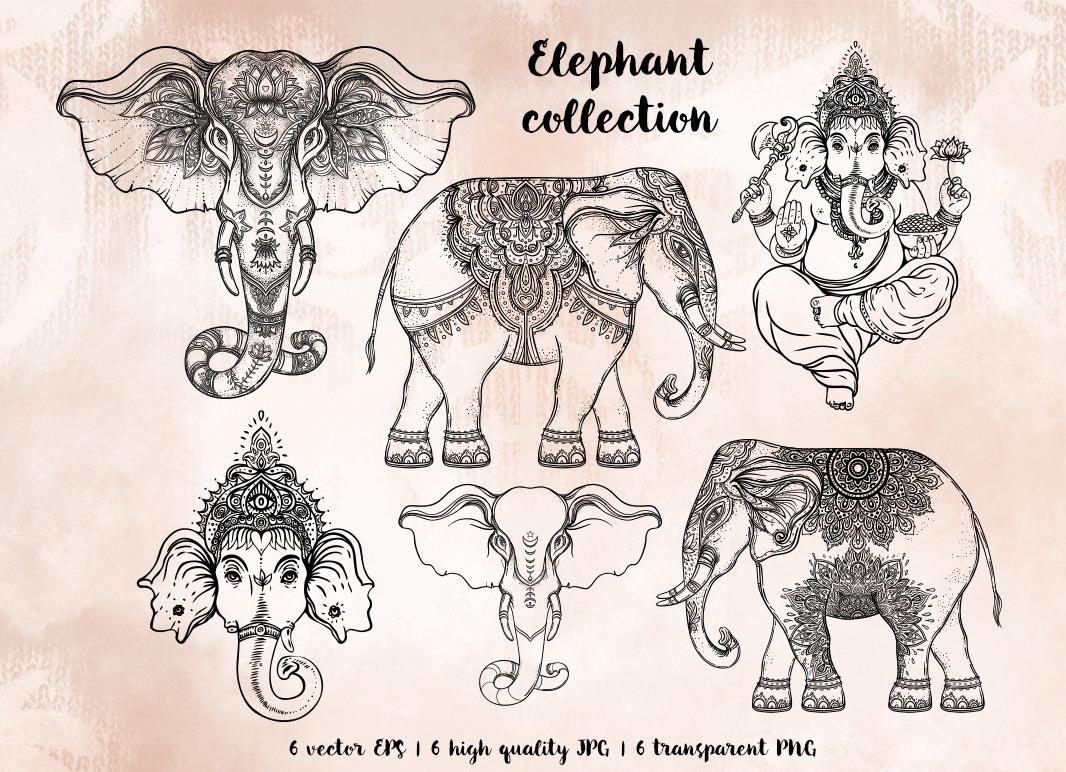 1066x772 Elephant Vector Collection On Behance