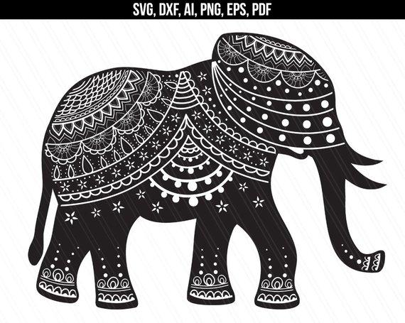 570x455 Elephant Mandala Svg Ethnic Mandala Svg Elephant Vector Etsy