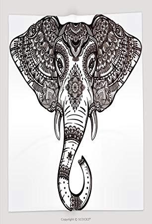 306x450 Custom Throw Blanket Vintage Mandala Vector Elephant