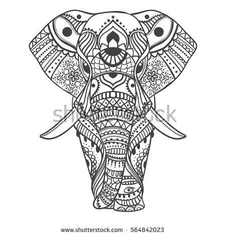 450x470 Elephant Mandala Clipart