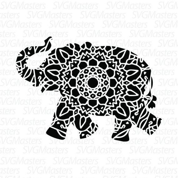 570x570 Elephant Mandala Svg Elephant Vector Digital Clipart For Etsy