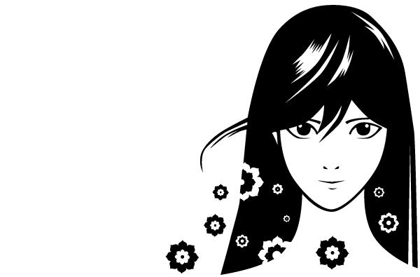 600x395 Free Manga Girl Vector 123freevectors