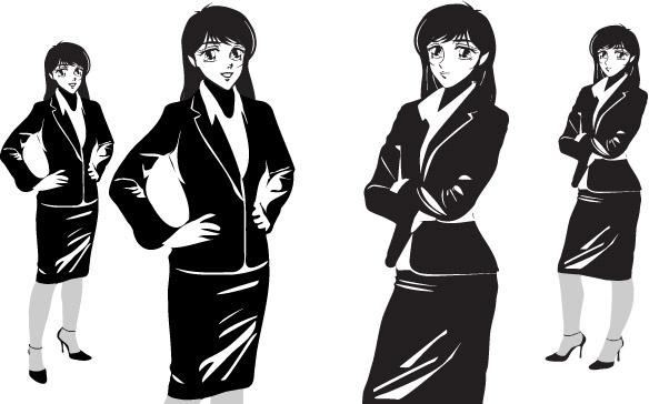 584x364 Free Manga Vector Graphics Free Vector Download (32 Free Vector