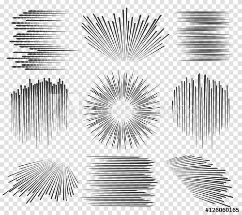 500x445 Speed Line Or Fast Lines Manga Motion On Transparent Background
