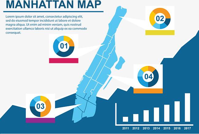650x439 Data Chart Manhattan Map, Chart Vector, Map Vector, Manhattan Png