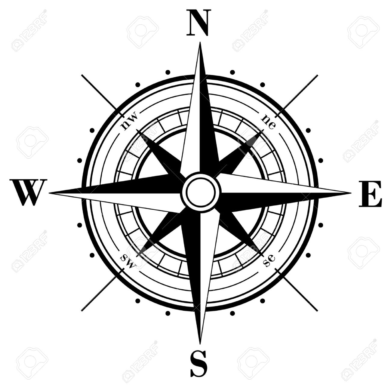 Map Compass Vector At Getdrawings Free For Personal Use Map
