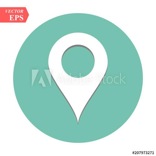 500x500 Location Icon Vector, Pin Sign, Gps Symbol, Pointer, Navigation