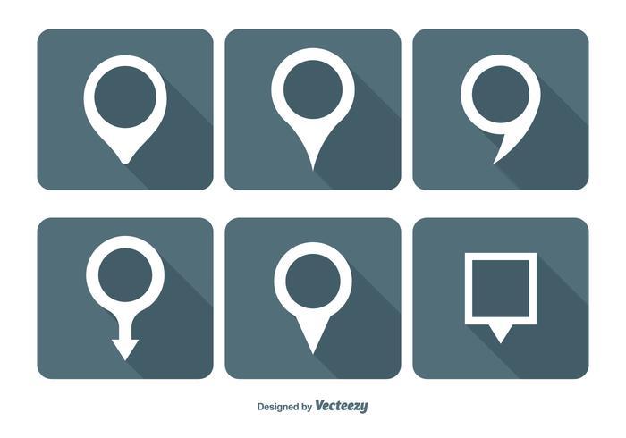 700x490 Map Pin Vector Icon Set