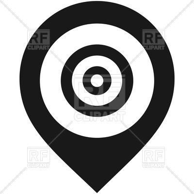 400x400 Map Pin Icon On White Background Vector Image Vector Artwork Of