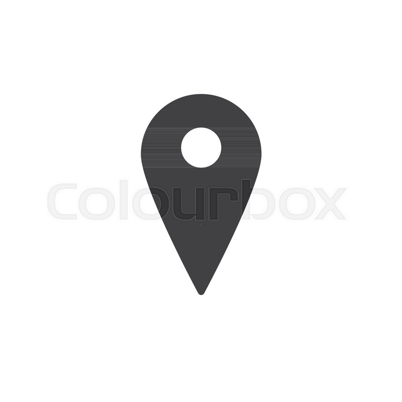 800x800 Map Pin Icon Vector, Filled Flat Sign, Solid Pictogram Isolated On