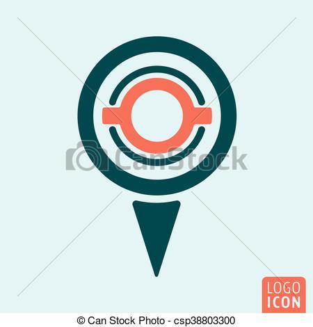 450x470 Map Pin Icon. Location Map Pin Icon. Gps Navigation Symbol. Vector