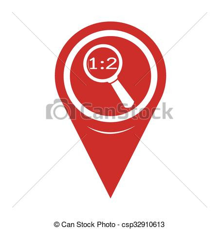 450x470 Map Pin Pointer Magnifying Glass Icon Vector Clip Art