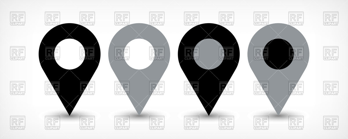 1200x480 Map Pin Sign Location Icon Vector Image Vector Artwork Of Icons