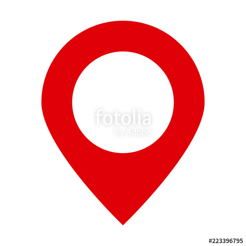 500x500 Maps Pin. Location Map Icon. Location Pin. Pin Icon Vector. Stock