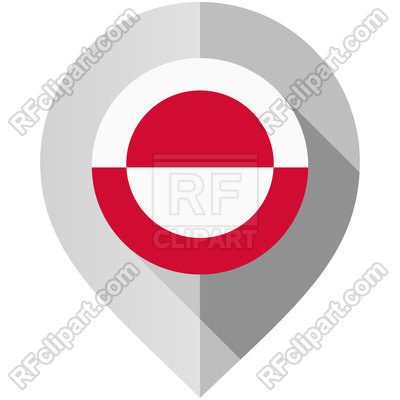 400x400 Marker With Greenland Flag Map Pin Icon Vector Image Vector