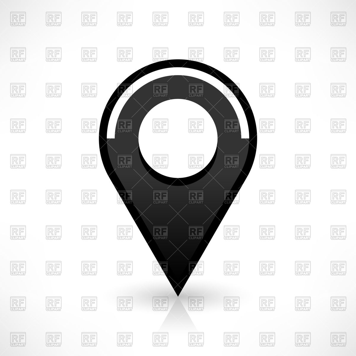 1200x1200 Round Glossy Map Pin Icon Vector Image Vector Artwork Of Design