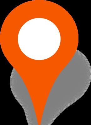 290x400 Simple Location Map Pin Icon Orange Free Vector Data Svg(Vector