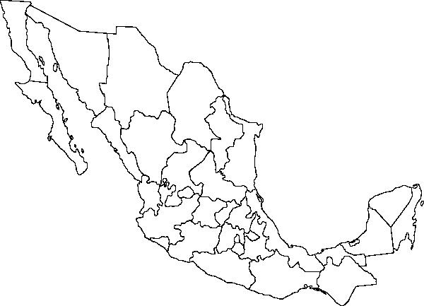 Mapa Mexico Vector