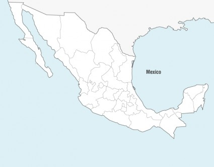 425x333 Mexico Map Vector Vector Misc Free Vector Free Download