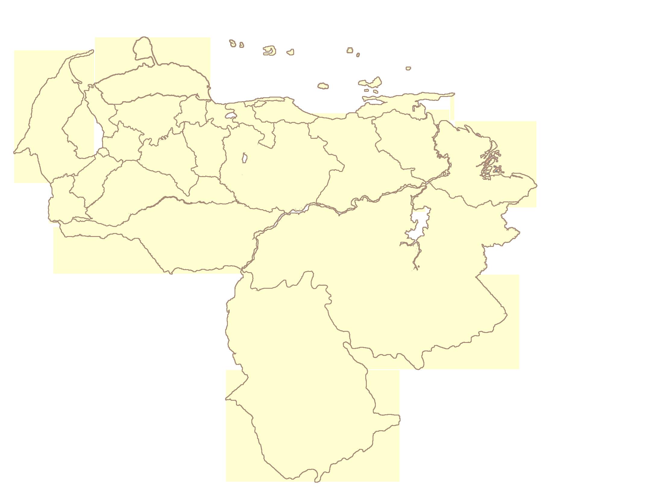 Mapa Venezuela Vector