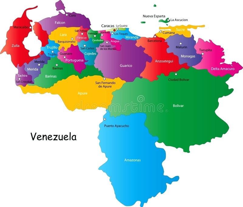 Mapa Venezuela Vector At Getdrawings Free Download