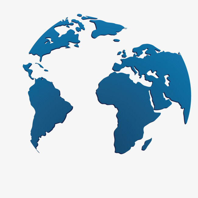 650x651 Vector Blue World Map Decoration, Map, Blue Map, World Map Png And