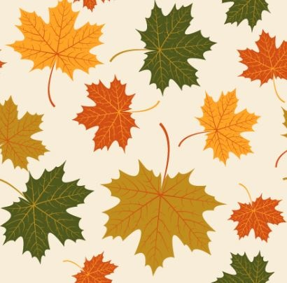 410x405 Autumn Maple Leaves Vectors Seamless Pattern Free Vector In
