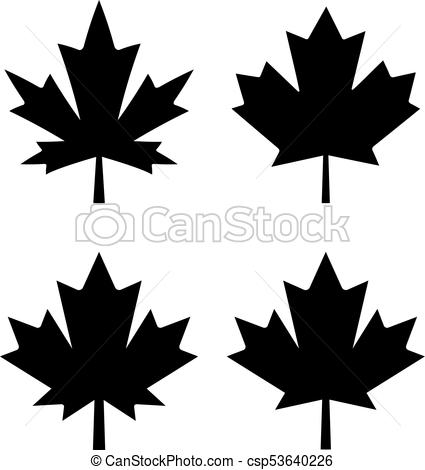 425x470 Maple Leaf Vector Icons Set.