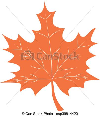 405x470 Orange Autumn Maple Leaf Vector On White.