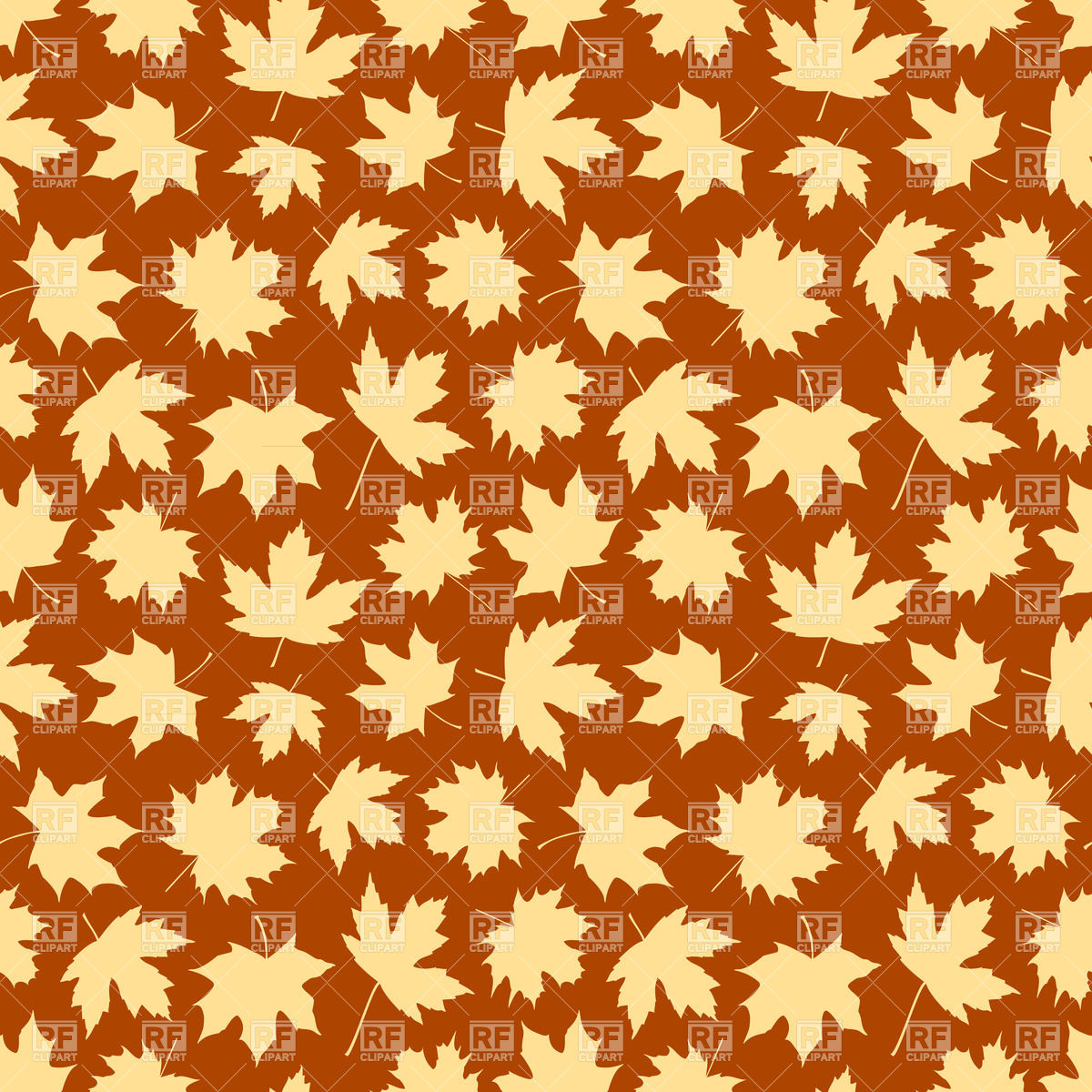 1200x1200 Seamless Background Made Of Silhouettes Of Autumn Maple Leaves