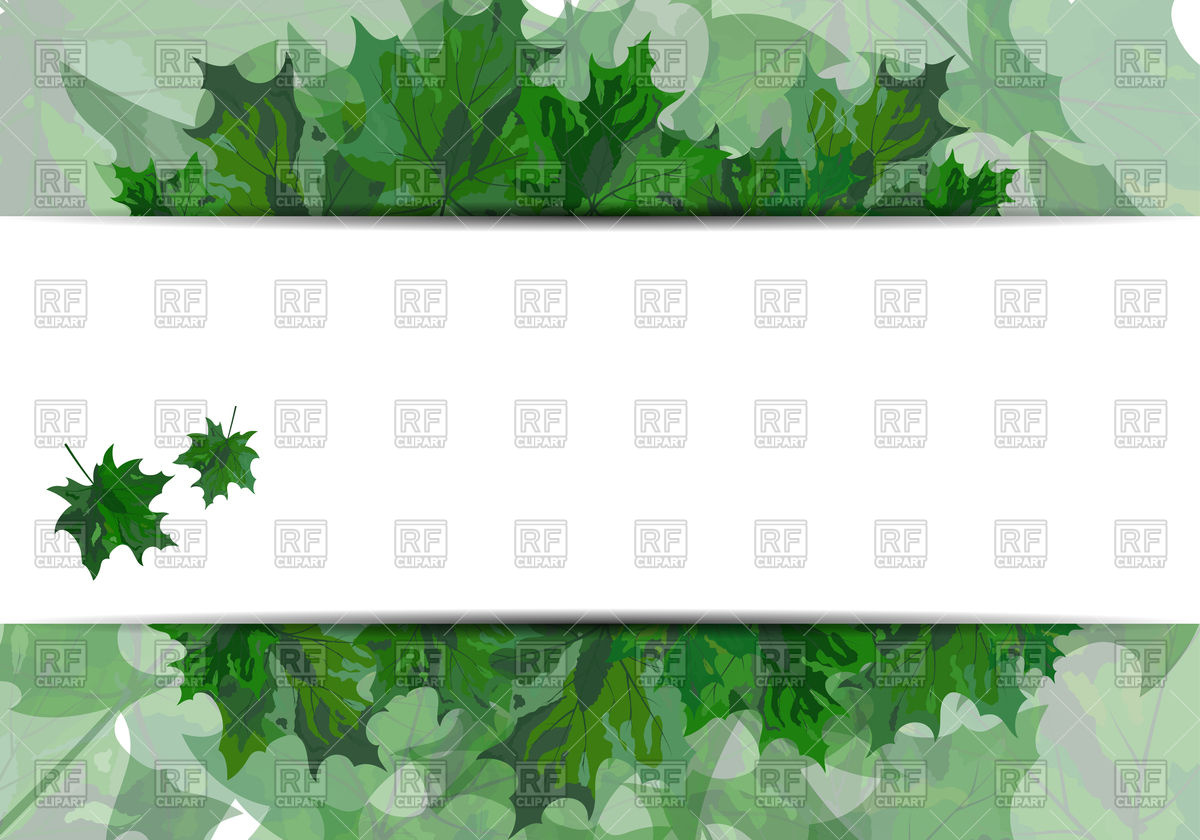 1200x840 Summer Maple Leaves With Banner Vector Image Vector Artwork Of