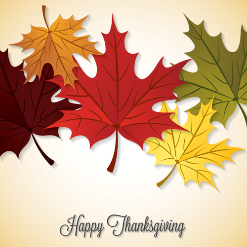 500x501 Thanksgiving Background With Maple Leaf Vector Design Free Vector