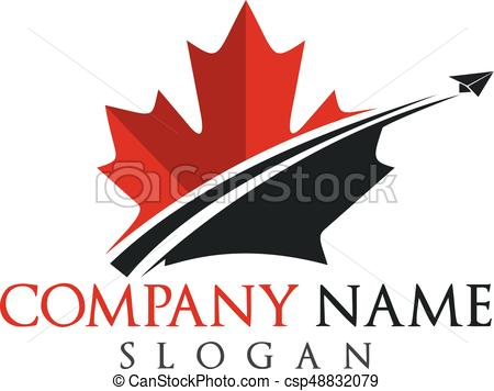 450x356 Canada Travel Logo Design. Maple Leaf Vector Logo Design.
