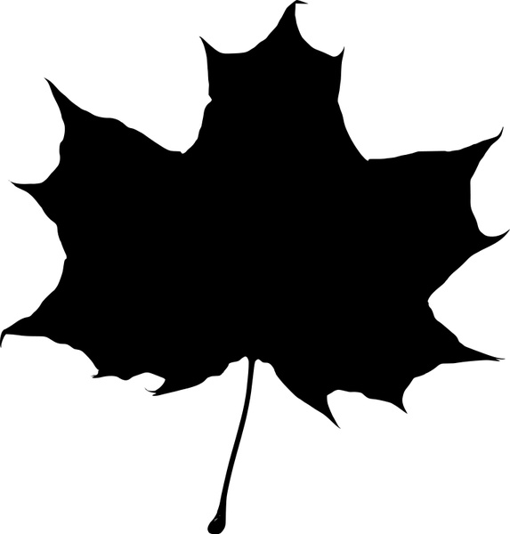 573x600 Maple Leaf Silhouette 2 Free Vector In Open Office Drawing Svg